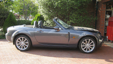 The donor Mazda MX5 as purchased.
