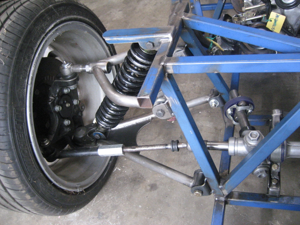 Locost clubman right front suspension