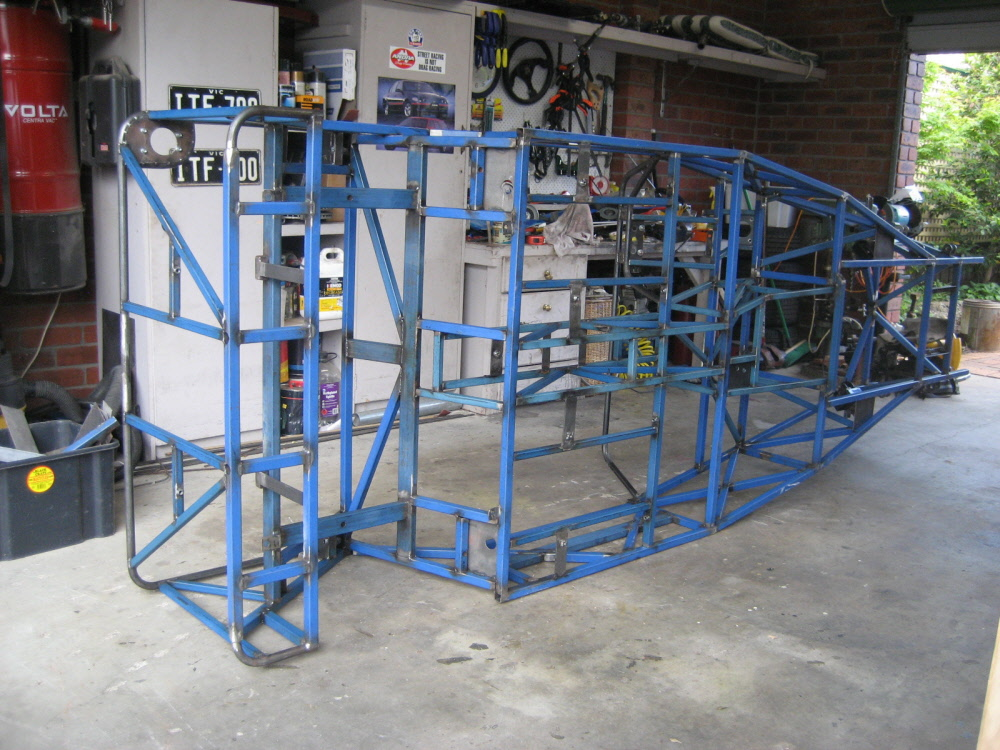 Locost chassis stripped ready for full welding